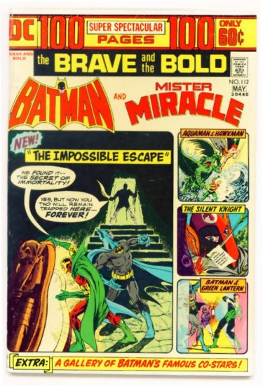 BRAVE and the BOLD #112 DC Comics 1974 Batman 100 PAGE GIANT