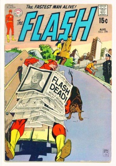 The FLASH #199 DC Comics 1970 Justice League Appearance