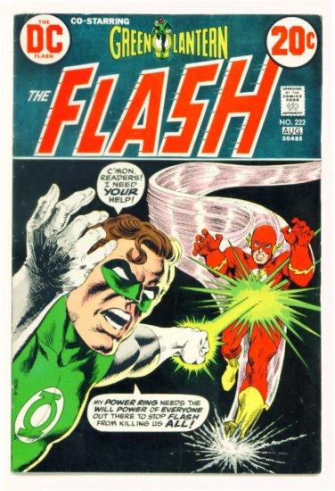 The FLASH #222 DC Comics 1973 Green Lantern co-stars