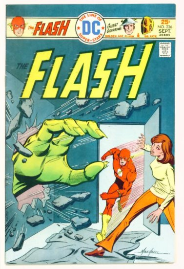 The FLASH #236 DC Comics 1975 Golden Age Flash Co-stars
