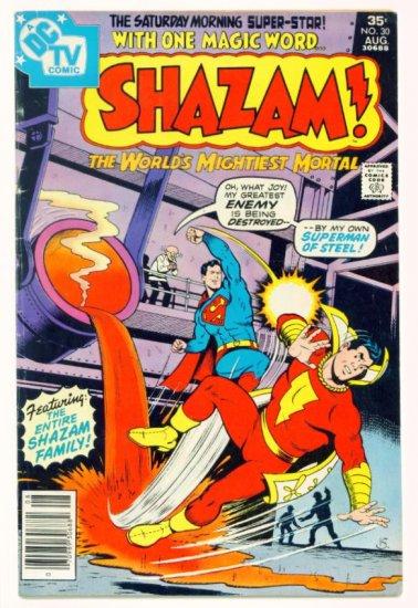 SHAZAM ! #30 DC Comics 1977 Captain Marvel and Superman
