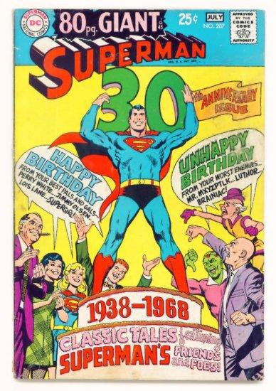 SUPERMAN #207 DC Comics 1968 80 PAGE GIANT G-48