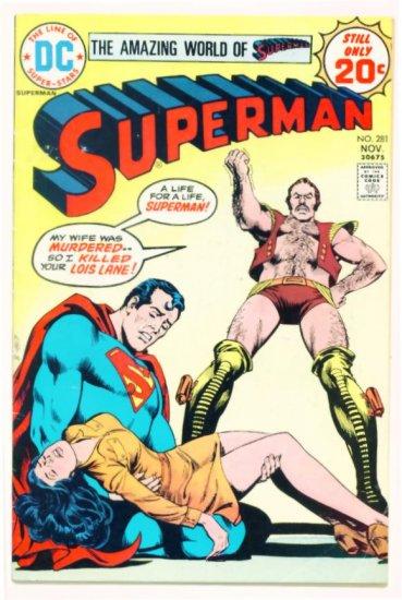 SUPERMAN #281 DC Comics 1974