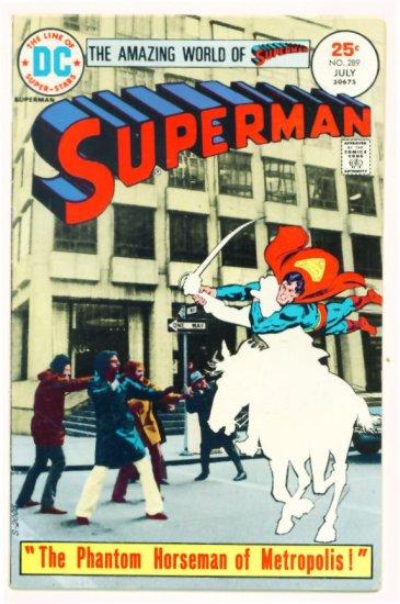 SUPERMAN #289 DC Comics 1975 Photo Cover