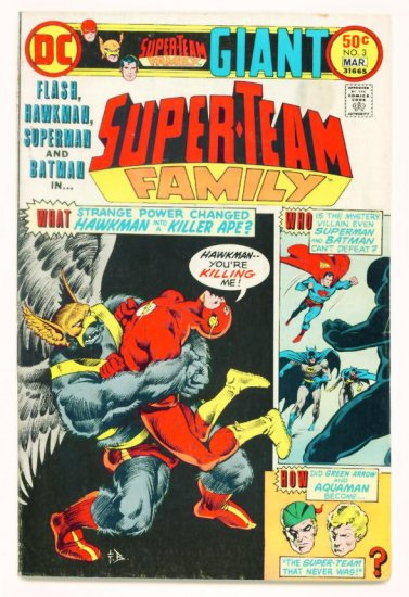 FLASH & BATMAN SUPER-TEAM FAMILY #3 DC Comics 1976