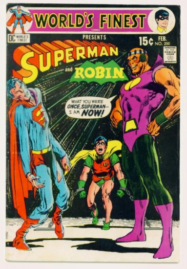WORLDS FINEST #200 DC Comics 1971 Superman and Robin