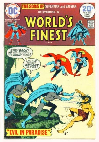 WORLDS FINEST #222 DC Comics 1974 Superman and Batman