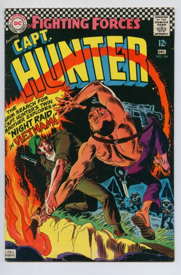 OUR FIGHTING FORCES #104 DC Comics 1966 Captain Hunter
