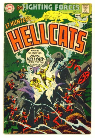 HELLCATS Our Fighting Forces #118 DC Comics 1969