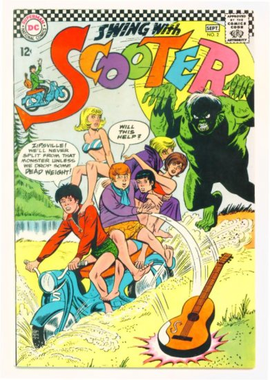 SWING with SCOOTER #2 DC Comics 1966
