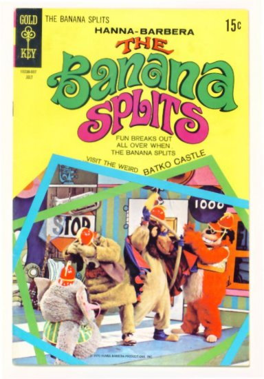 The BANANA SPLITS #3 Gold Key Comics 1970 Hanna Barbera
