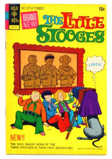 The LITTLE STOOGES #1 Gold Key Comics 1972 Three Stooges