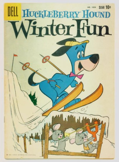 HUCKLEBERRY HOUND Dell Comics 1959 Four Color #1054 Hanna-Barbera