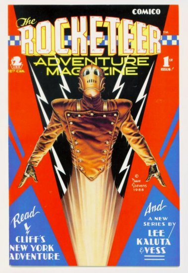 ROCKETEER ADVENTURE MAGAZINE #1 Comico 1988 Dave Stevens
