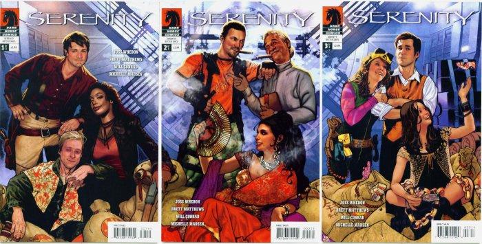 SERENITY Lot of 3 Dark Horse Comics Full Run FIREFLY