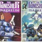 PUNISHER MAGAZINE #1 and #2 Marvel Comics 1989 Lot of 2