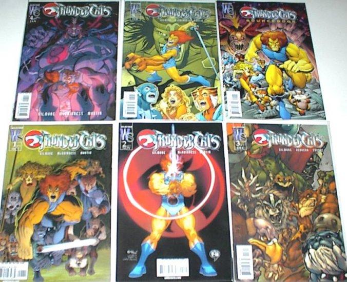 THUNDERCATS Lot of 6 Wildstorm Comics #1 - 5 plus Sourcebook