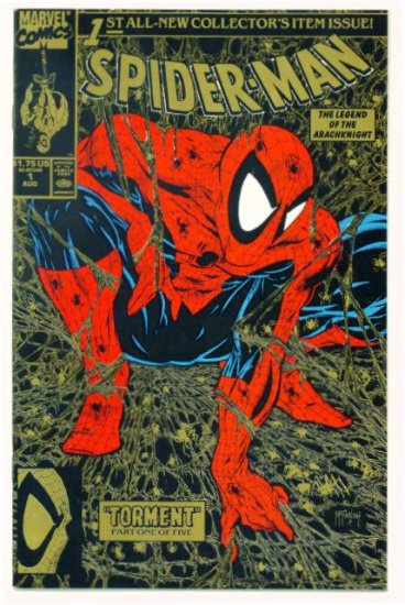 SPIDER-MAN #1 Marvel Comics 1990 NM Gold McFarlane