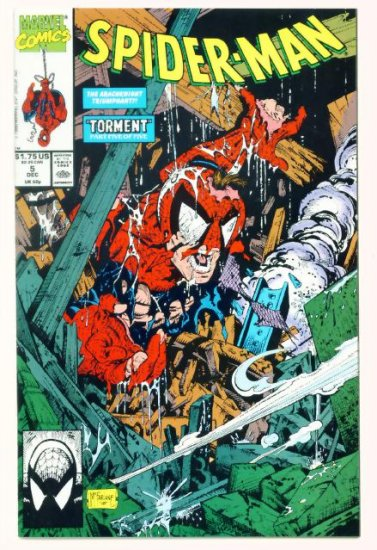 SPIDER-MAN #5 Marvel Comics 1990 NM McFarlane