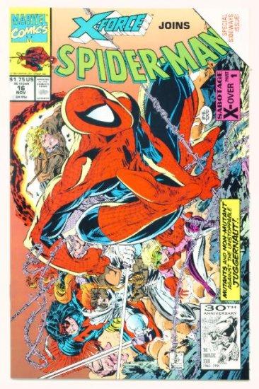 SPIDER-MAN #16 Marvel Comics 1991 NM X-FORCE