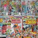 CONAN The Barbarian Lot 33 Bronze Marvel Comics 1970's