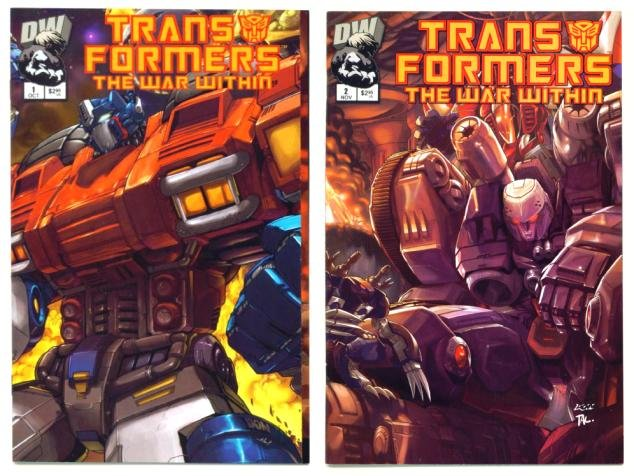 TRANSFORMERS The WAR WITHIN #1 and #2 Dreamwave Comics 2002