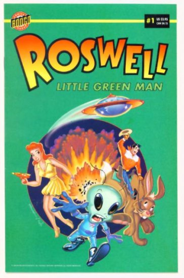 ROSWELL LITTLE GREEN MAN #1 Bongo Comics 1996