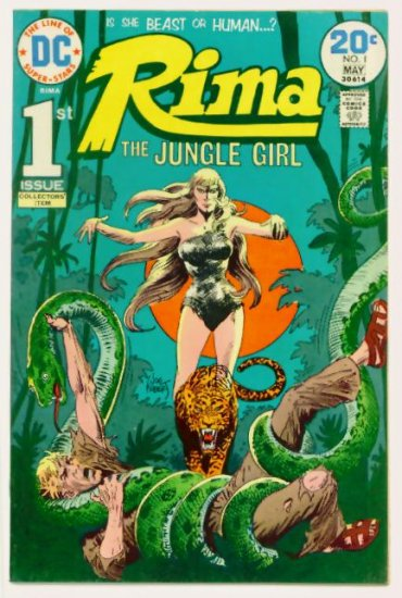 RIMA JUNGLE GIRL #1 DC Comics 1974 Origin