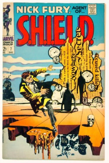 NICK FURY Agent of SHIELD #7 Marvel Comics 1968 Steranko Salvador Dali