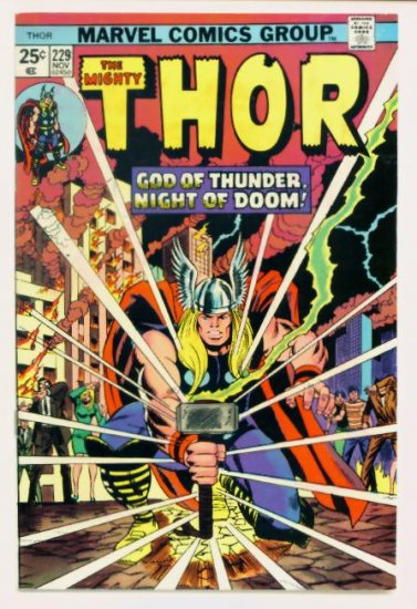 THE MIGHTY THOR #229 Marvel Comics 1974