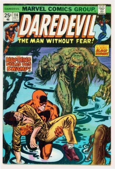 DAREDEVIL #114 Marvel Comics 1974 MAN-THING