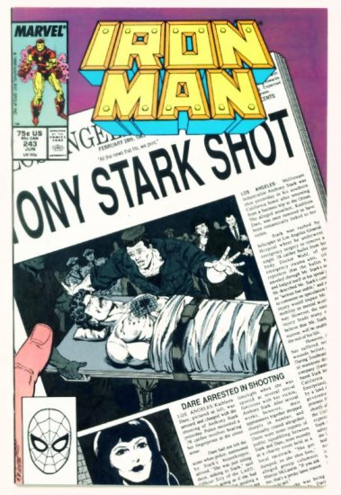 IRON MAN #243 Marvel Comics 1989