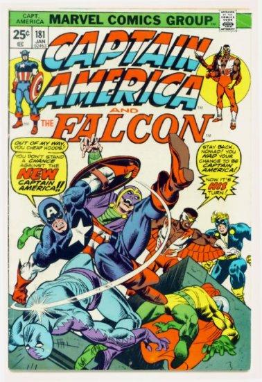CAPTAIN AMERICA #181 Marvel Comics 1974 Intro Origin New Cap