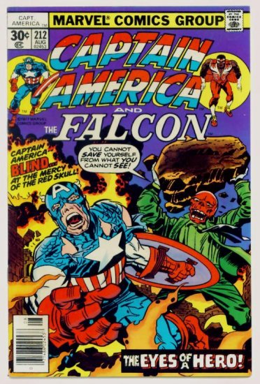 CAPTAIN AMERICA #212 Marvel Comics 1977 Jack Kirby