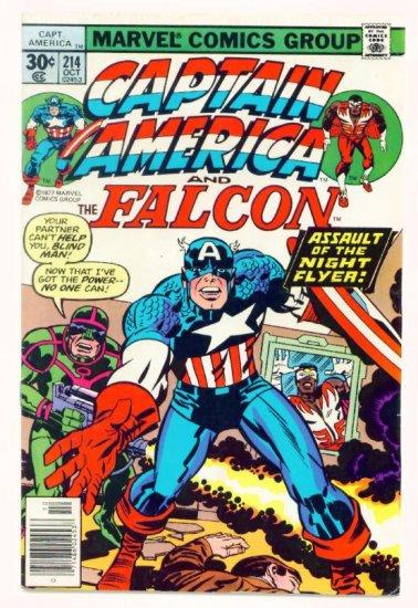 CAPTAIN AMERICA #214 Marvel Comics 1977 Jack Kirby