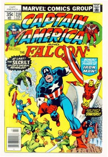 CAPTAIN AMERICA #218 Marvel Comics 1978 Iron Man