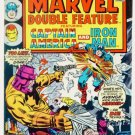 MARVEL DOUBLE FEATURE #16 Marvel Comics 1976 Captain America Iron Man
