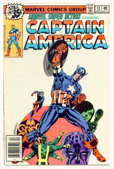 MARVEL SUPER ACTION #13 Marvel Comics 1979 Captain America