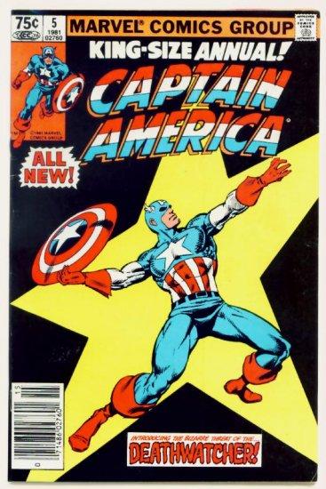 CAPTAIN AMERICA ANNUAL #5 Marvel Comics 1981