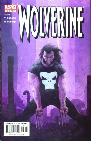 WOLVERINE #186 Marvel Comics 2003 NM PUNISHER