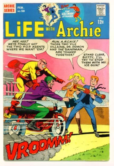 LIFE WITH ARCHIE #58 Archie Comics 1967 Super-Hero