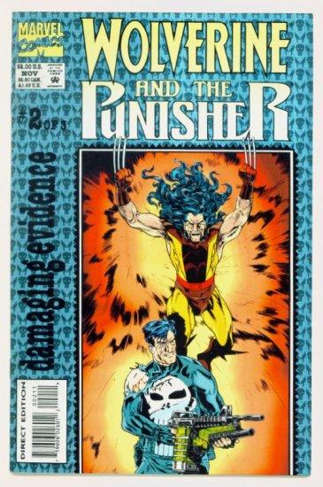 WOLVERINE PUNISHER DAMAGING EVIDENCE #2 Marvel Comics 1993