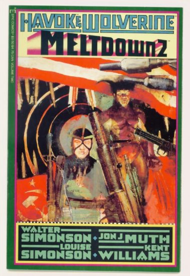 HAVOK WOLVERINE MELTDOWN #2 Marvel Epic Comics 1988