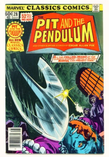 PIT and the PENDULUM Marvel Classics Comics #28 1977 Edgar Allan Poe