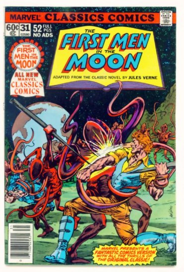 FIRST MEN in the MOON Marvel Classics Comics #31 1978  Jules Verne