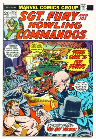 SGT. FURY and His HOWLING COMMANDOS #115 Marvel Comics 1973