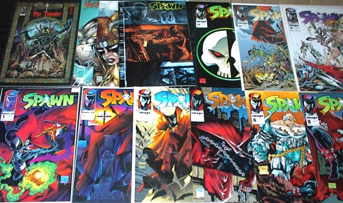SPAWN Lot of 13 Image Comics #1 - #65 + Todd McFarlane