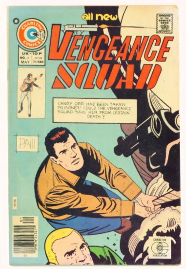VENGEANCE SQUAD #6 Charlton Comics 1976