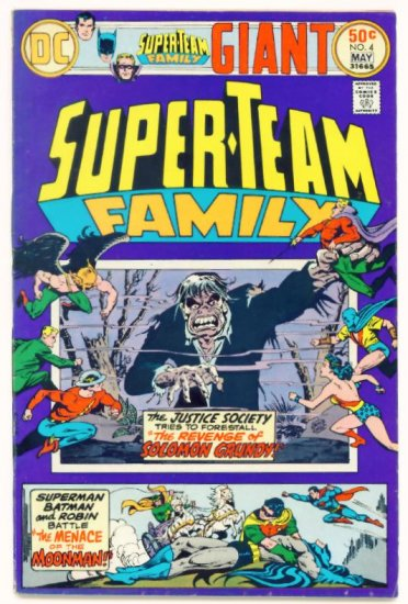 SUPER-TEAM FAMILY #4 DC Comics 1976 Justice Society of America