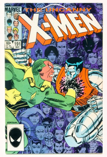 UNCANNY X-MEN #191 Marvel Comics 1985 SPIDER-MAN